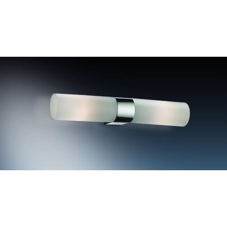 Настенный светильник Odeon Light Want 2137/2W, IP44, 2xE14x40W, хром, белый, металл, стекло