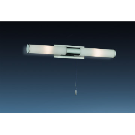 Настенный светильник Odeon Light Vell 2139/2W, IP44, 2xG9x40W, хром, белый, металл, стекло