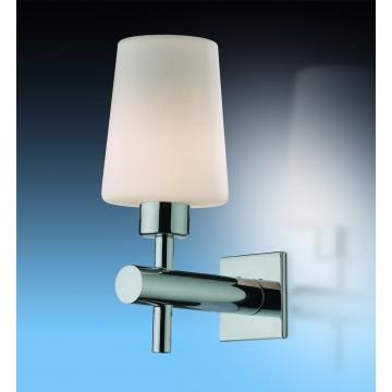 Настенный светильник Odeon Light Batto 2149/1W, IP44, 1xG9x40W, хром, белый, металл, стекло