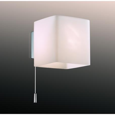 Настенный светильник Odeon Light Walli Faro 2183/1W, 1xG9x40W, хром, белый, металл, стекло