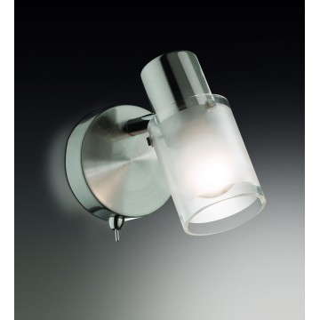Настенный светильник с регулировкой направления света Odeon Light Parfe 2175/1W, 1xE14x40W, никель, матовый, прозрачный, металл, стекло