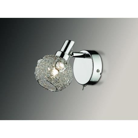 Настенный светильник с регулировкой направления света Odeon Light Bisco 2209/1W, 1xG9x40W, хром, прозрачный, металл, хрусталь