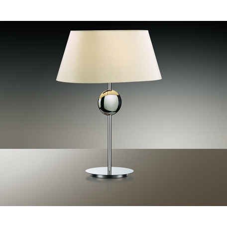 Настольная лампа Odeon Light Modern Hotel 2195/1T, 1xE27x60W, хром, бежевый, металл, текстиль