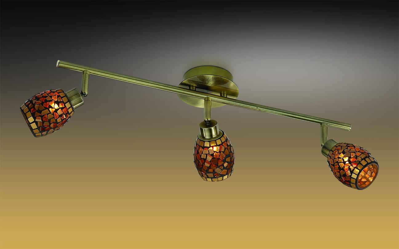Потолочный светильник с регулировкой направления света Odeon Light Glosse 2167/3W, 3xG9x40W, бронза, черный, янтарь, металл, стекло - фото 1