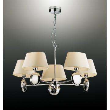 Подвесная люстра Odeon Light 2195/5 Hotel, хром, белый