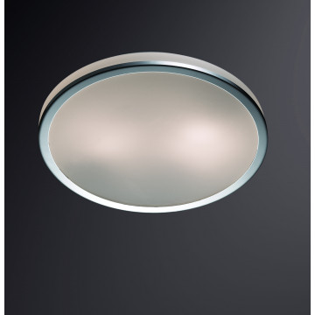 Потолочный светильник Odeon Light Yun 2177/2C, IP44, 2xE27x60W, хром, стекло