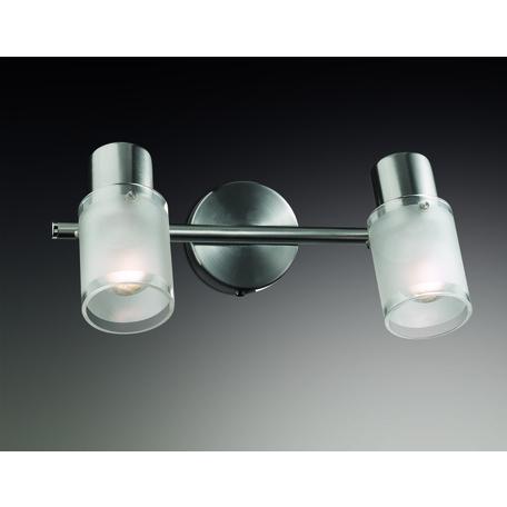 Потолочный светильник с регулировкой направления света Odeon Light Parfe 2175/2W, 2xE14x40W, никель, дымчатый, прозрачный, металл, стекло