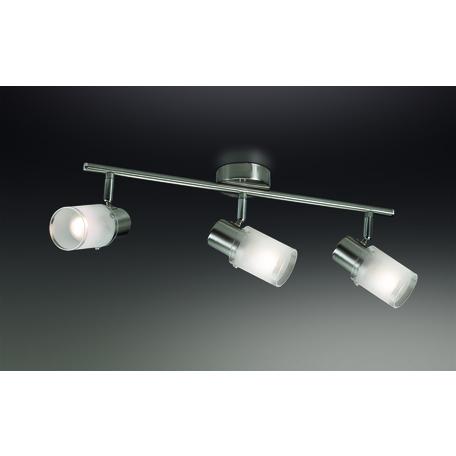 Потолочный светильник с регулировкой направления света Odeon Light Parfe 2175/3W, 3xE14x40W, никель, матовый, прозрачный, металл, стекло