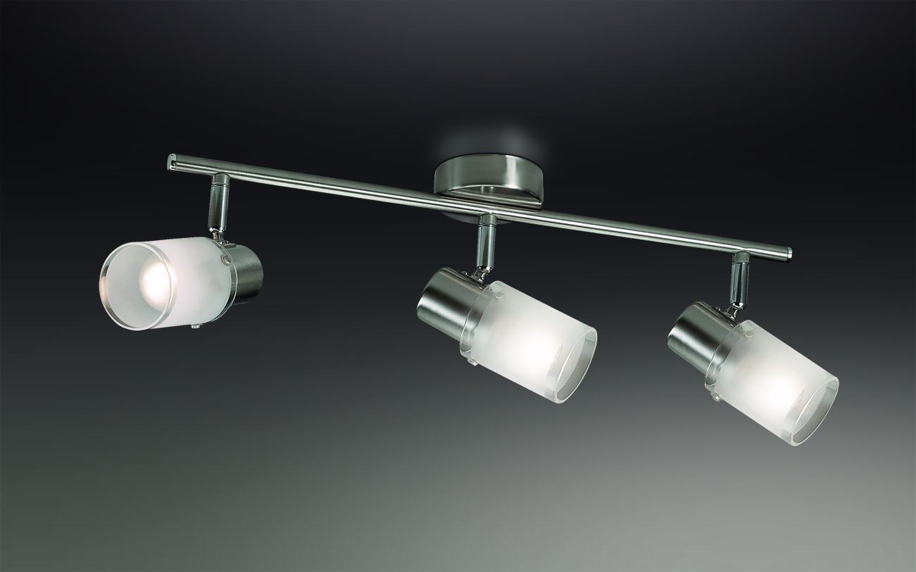 Потолочный светильник с регулировкой направления света Odeon Light Parfe 2175/3W, 3xE14x40W, никель, матовый, прозрачный, металл, стекло - фото 1