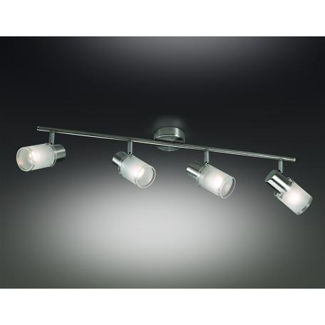 Потолочный светильник с регулировкой направления света Odeon Light Parfe 2175/4W, 4xE14x40W, никель, дымчатый, прозрачный, металл, стекло