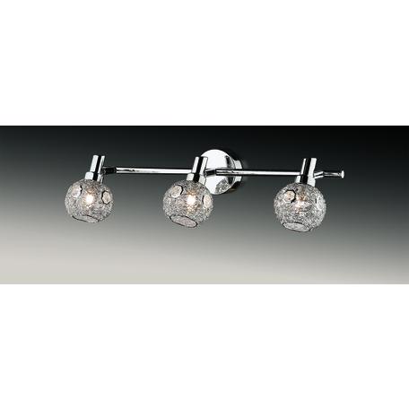 Потолочный светильник с регулировкой направления света Odeon Light Bisco 2209/3W, 3xG9x40W, хром, прозрачный, металл, хрусталь