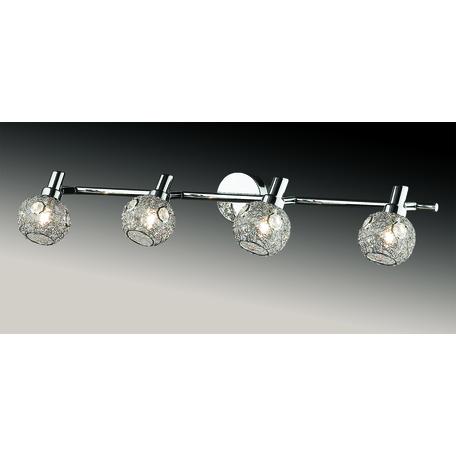 Потолочный светильник с регулировкой направления света Odeon Light Bisco 2209/4W, 4xG9x40W, хром, прозрачный, металл, хрусталь