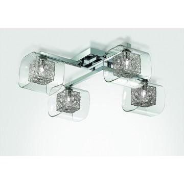 Потолочная люстра Odeon Light Forta 2006/4C, 4xG9x40W, хром, прозрачный, металл, стекло, хрусталь