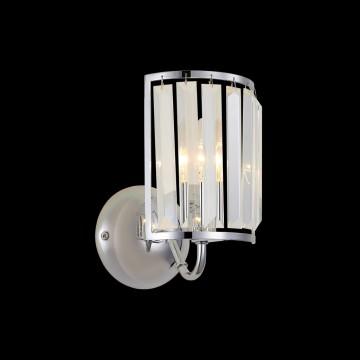Бра Citilux Грета CL333311, 1xE14x60W, хром, прозрачный, металл, хрусталь - миниатюра 2
