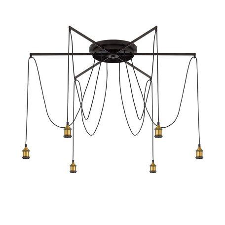 Люстра-паук Citilux Эдисон CL451261, 6xE27x75W, бронза, венге, металл