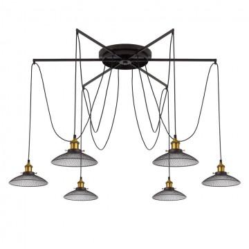 Люстра-паук Citilux Эдисон CL451261, 6xE27x75W, бронза, венге, металл - миниатюра 13