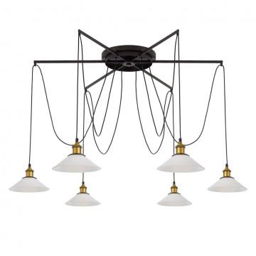 Люстра-паук Citilux Эдисон CL451261, 6xE27x75W, бронза, венге, металл - миниатюра 6