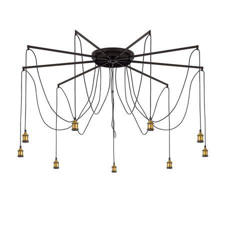 Люстра-паук Citilux Эдисон CL451291, 9xE27x75W, бронза, венге, металл