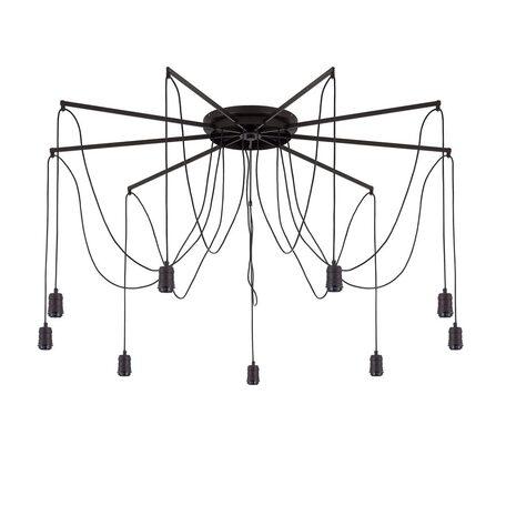 Люстра-паук Citilux Эдисон CL451292, 9xE27x75W, венге, черный, металл