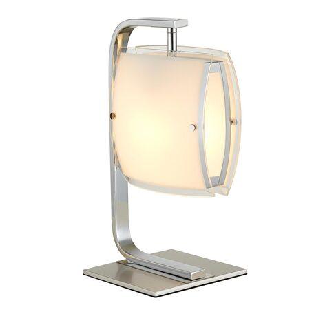 Настольная лампа Citilux Берген CL161811, 1xE27x75W, хром, белый, металл, стекло