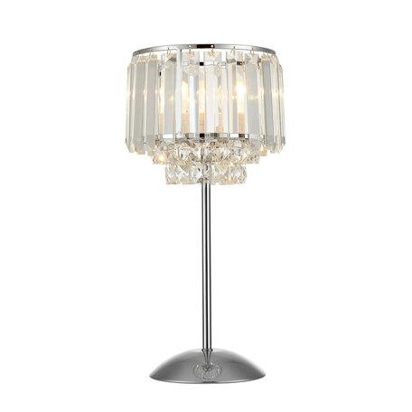 Настольная лампа Citilux Синди CL330811, 1xE27x75W, хром, прозрачный, металл, хрусталь