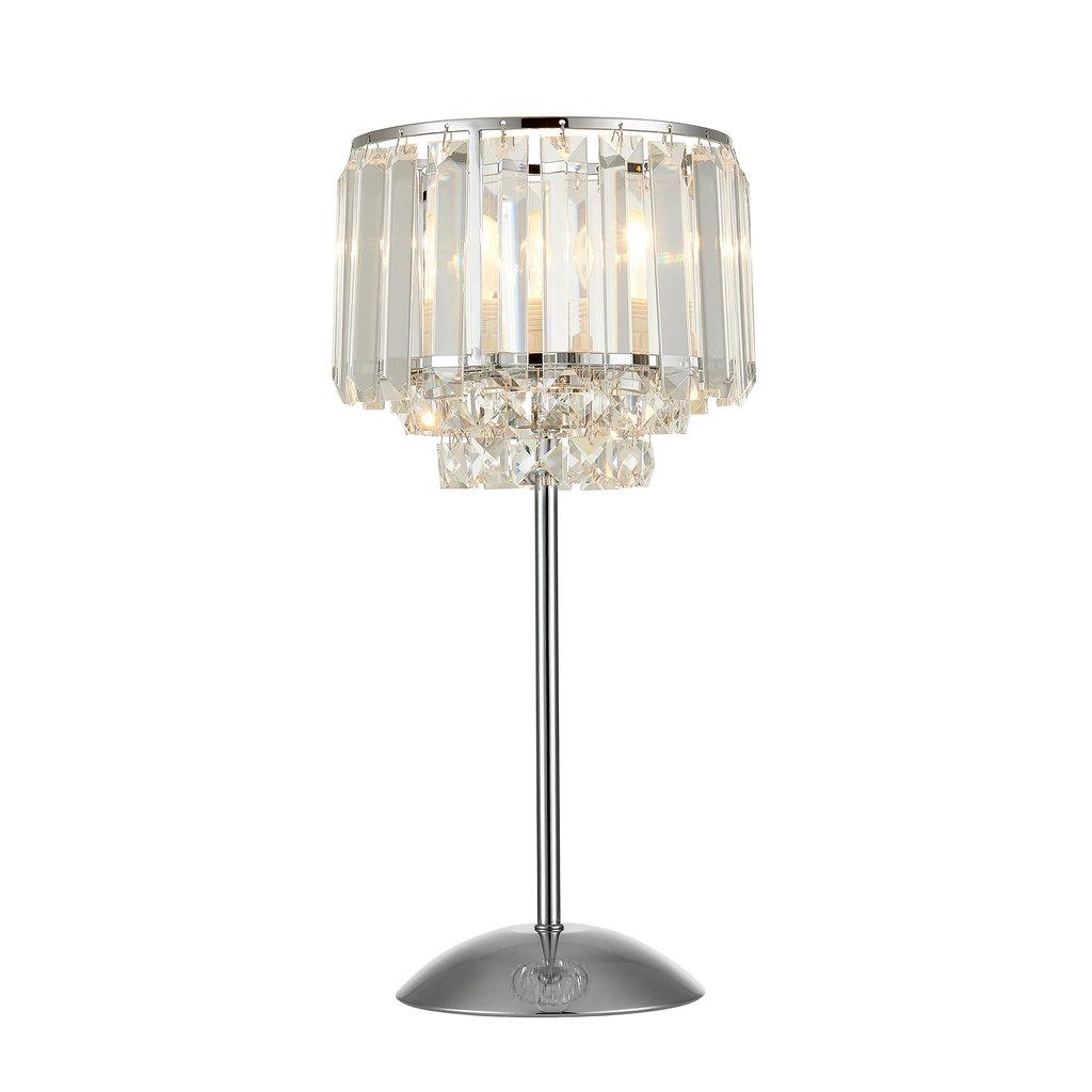 Настольная лампа Citilux Синди CL330811, 1xE27x75W, хром, прозрачный, металл, хрусталь - фото 1