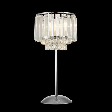 Настольная лампа Citilux Синди CL330811, 1xE27x75W, хром, прозрачный, металл, хрусталь - миниатюра 2