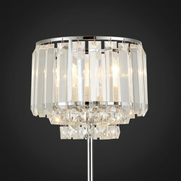 Настольная лампа Citilux Синди CL330811, 1xE27x75W, хром, прозрачный, металл, хрусталь - миниатюра 3