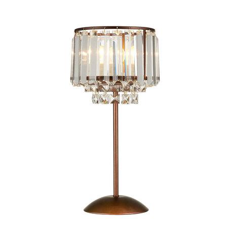 Настольная лампа Citilux Синди CL330813, 1xE27x75W, коричневый, прозрачный, металл, хрусталь - миниатюра 1