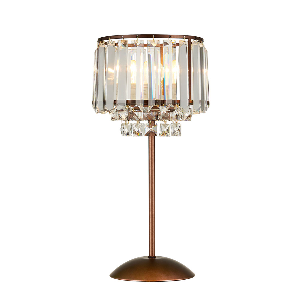 Настольная лампа Citilux Синди CL330813, 1xE27x75W, коричневый, прозрачный, металл, хрусталь - фото 1