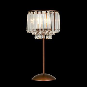 Настольная лампа Citilux Синди CL330813, 1xE27x75W, коричневый, прозрачный, металл, хрусталь - миниатюра 2