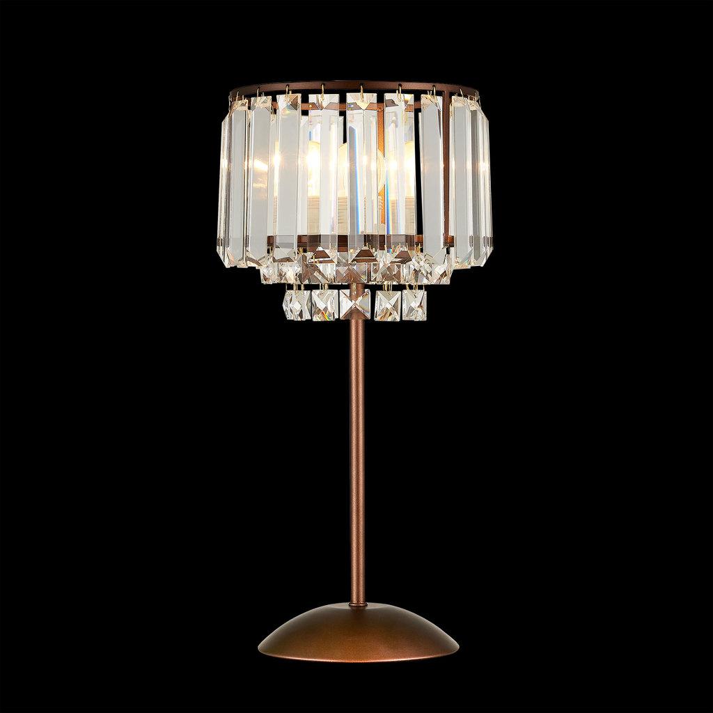 Настольная лампа Citilux Синди CL330813, 1xE27x75W, коричневый, прозрачный, металл, хрусталь - фото 2