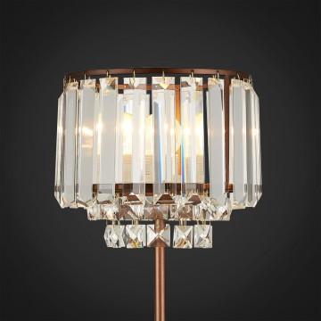 Настольная лампа Citilux Синди CL330813, 1xE27x75W, коричневый, прозрачный, металл, хрусталь - миниатюра 3