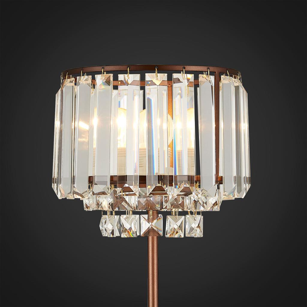 Настольная лампа Citilux Синди CL330813, 1xE27x75W, коричневый, прозрачный, металл, хрусталь - фото 3