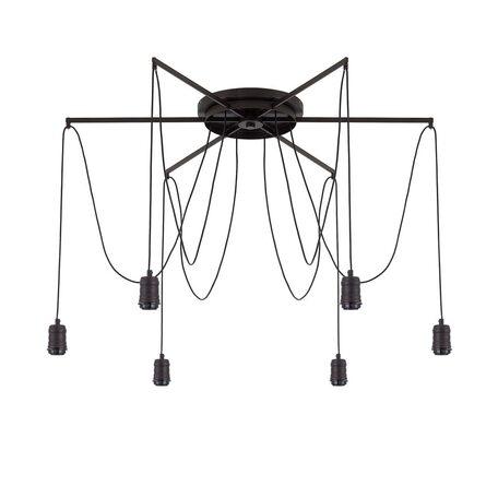 Люстра-паук Citilux Эдисон CL451262, 6xE27x75W, венге, черный, металл