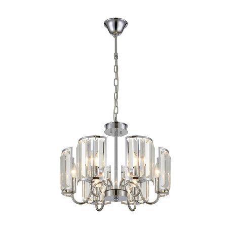 Потолочно-подвесная люстра Citilux Грета CL333161, 6xE14x60W, хром, прозрачный, металл, хрусталь