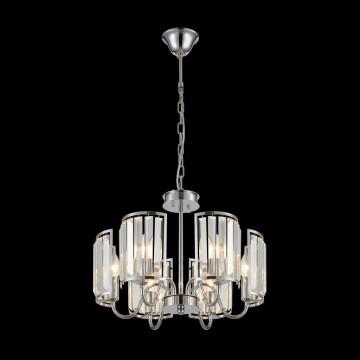 Потолочно-подвесная люстра Citilux Грета CL333161, 6xE14x60W, хром, прозрачный, металл, хрусталь - миниатюра 2