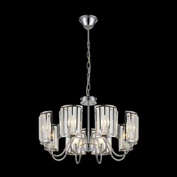 Потолочно-подвесная люстра Citilux Грета CL333181, 8xE14x60W, хром, прозрачный, металл, хрусталь - миниатюра 2