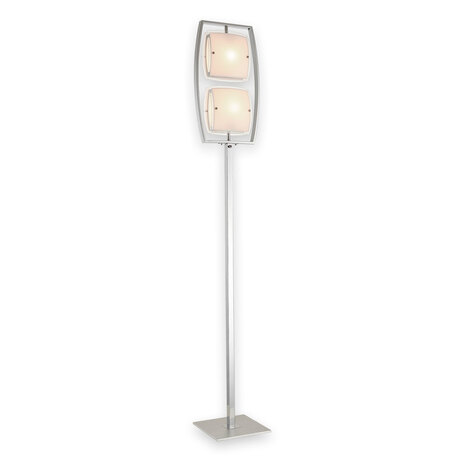 Торшер Citilux Берген CL161921, 2xE27x75W, хром, белый, металл, стекло