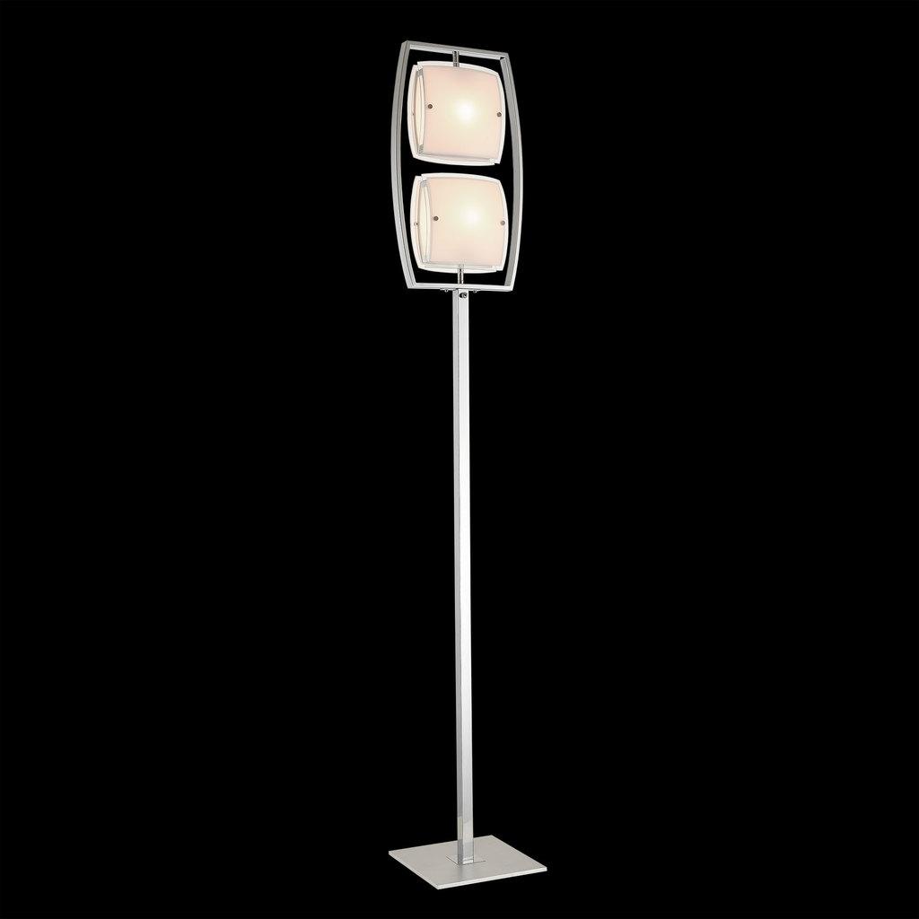 Торшер Citilux Берген CL161921, 2xE27x75W, хром, белый, металл, стекло - фото 2