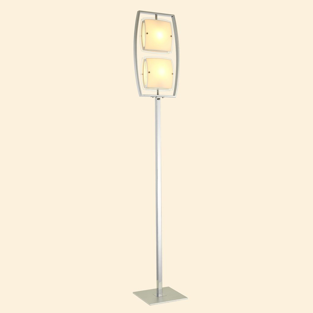 Торшер Citilux Берген CL161921, 2xE27x75W, хром, белый, металл, стекло - фото 3