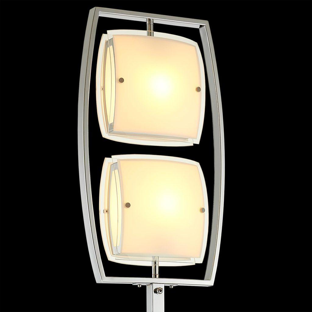 Торшер Citilux Берген CL161921, 2xE27x75W, хром, белый, металл, стекло - фото 4