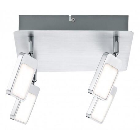 Потолочная светодиодная люстра с регулировкой направления света Paulmann Mic 66645, LED 20W, металл, металл с пластиком