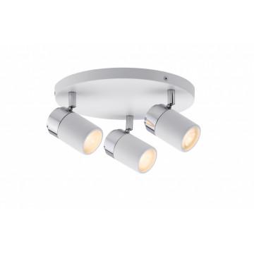 Потолочная люстра с регулировкой направления света Paulmann Zyli 66712, IP44, 3xGU10x10W, металл