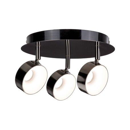 Потолочная светодиодная люстра с регулировкой направления света Paulmann Funnel 66730, LED 18W, черный хром, металл