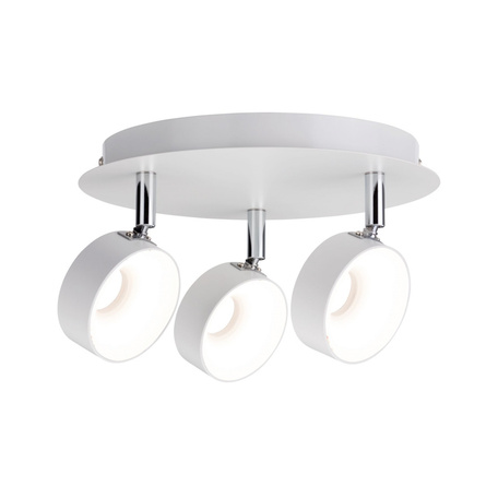 Потолочная светодиодная люстра с регулировкой направления света Paulmann Funnel 66734, LED 18W, белый, металл