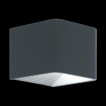 Настенный светодиодный светильник Eglo Doninni 96501, IP44, LED 7W, 3000K (теплый), серый, металл, пластик