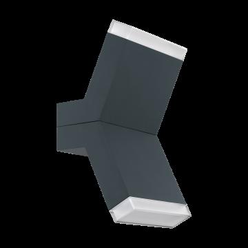 Настенный светодиодный светильник Eglo Cantzo 97154, IP44, LED 8W 3000K 1100lm, серый, металл, пластик
