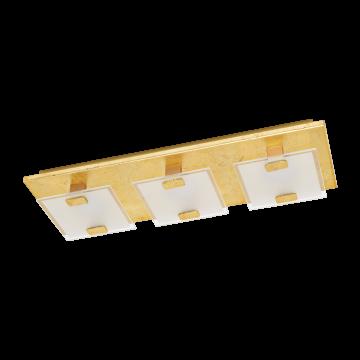 Потолочный светодиодный светильник Eglo Vicaro 1 97759, LED 7,5W, золото, матовый, металл, стекло
