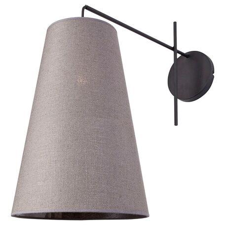Бра Nowodvorski Alanya 9371, 1xE27x60W, черный, серый, металл, текстиль